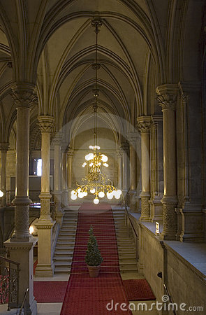 Luxury baroque stairway interior
