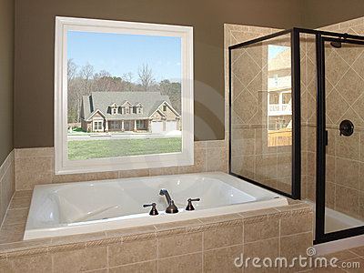 Luxury Bathroom Tub and Window 1