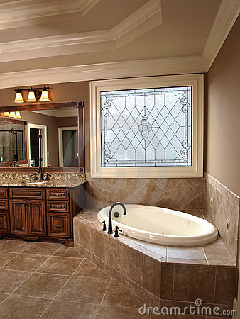 Free Luxury Bathroom With Stained Glass Royalty Free Stock Image - 4944246