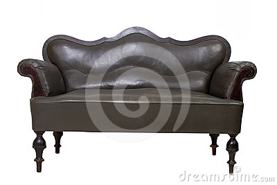 Luxury Black Leather Sofa Royalty Free Stock Images - Image: 24366499