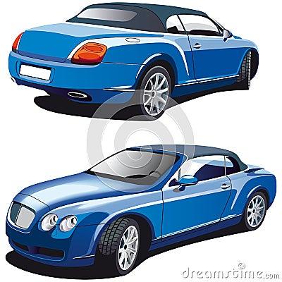 Luxury blue car