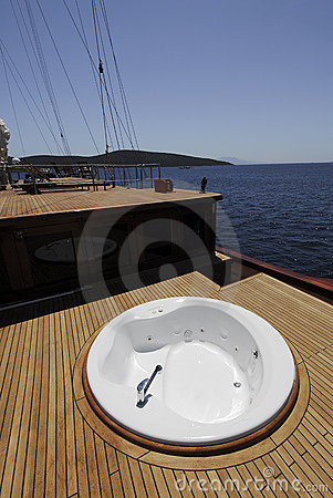 Luxury boat deck