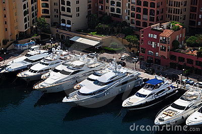 Luxury boats in Monte Carlo