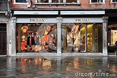 Luxury brand - Prada Editorial Stock Image