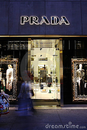 Luxury brand - Prada Editorial Stock Photo
