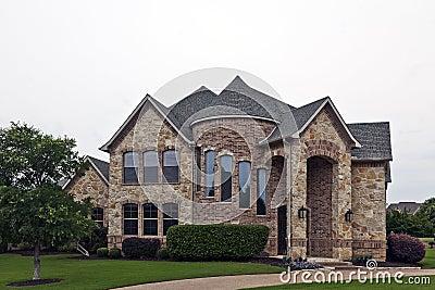 Luxury Brick Stone House Royalty Free Stock Image Image