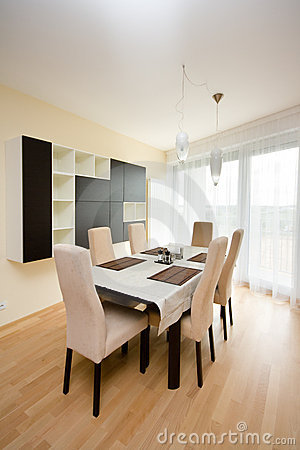 Luxury bright dining room