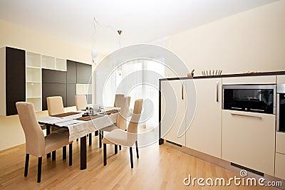 Luxury bright dining room