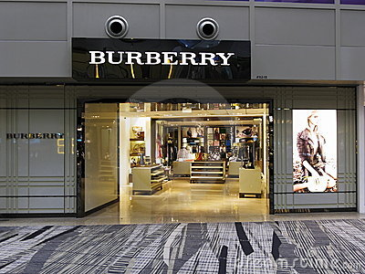 Luxury Burberry retail boutique outlet Editorial Stock Image