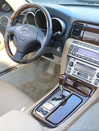 Luxury car convertible interior 3