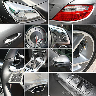 Free Luxury Car Details Collage Royalty Free Stock Photography - 23567107