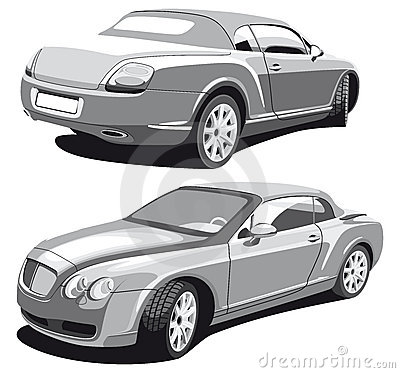Luxury car_grayscale