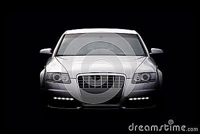 Luxury car isolated