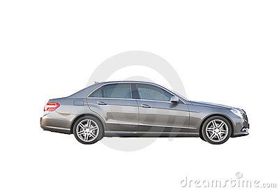 Luxury car isolated over white side view