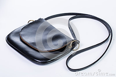 Luxury carry bag black color isolated