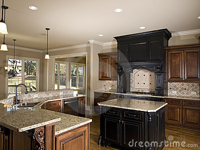 Luxury center island Kitchen right side