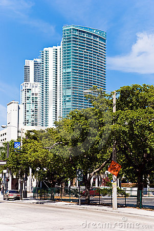 Luxury condominium-buildings in miami