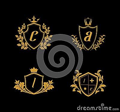 Free Luxury Crest Logo, Golden Crest Logo, Kingdom Logo Royalty Free Stock Photo - 122069775