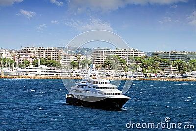 Luxury cruise anchored