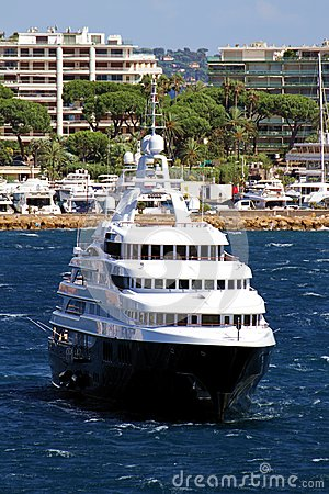 Luxury cruise anchored