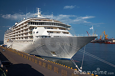 A luxury cruise ship