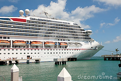 Luxury Cruise Ship Docked in Key West