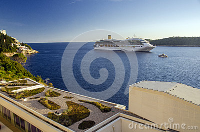 Luxury cruise ship Editorial Image