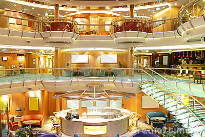 Luxury cruise ship interior Editorial Image