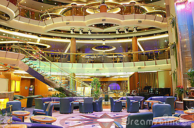 Luxury cruise ship interior centrum