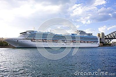 Luxury Cruiseliner at Sydney Australia