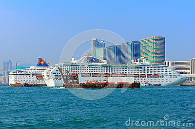 Luxury cruises in hong kong Editorial Stock Photo