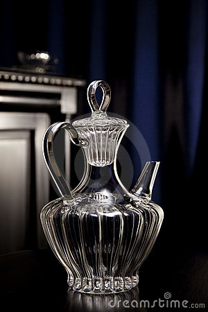 Luxury crystal carafe