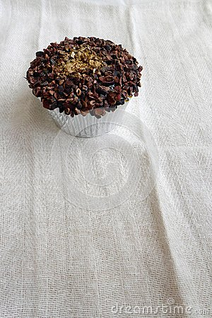 Luxury cup cake with gold dust
