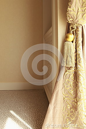 Luxury curtains detail