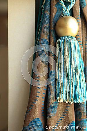 Luxury curtain drapes and tassel