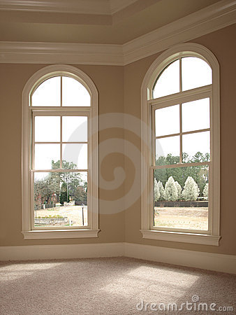 Free Luxury Double Arch Window Royalty Free Stock Image - 4944416