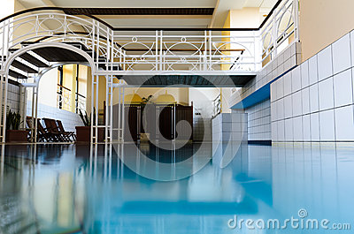 Luxury European indoor spa swimming pool