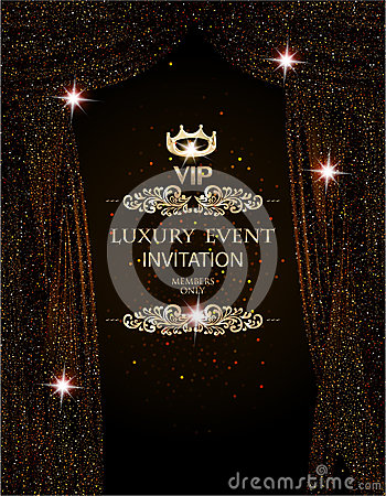 Free Luxury Event Elegant Background With Sparkling Theater Curtains. Royalty Free Stock Photos - 85591698