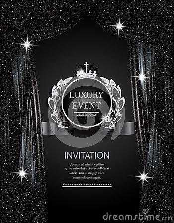 Curtains Ideas black theater curtains : Luxury Event Elegant Silver And Black Background With Sparkling ...