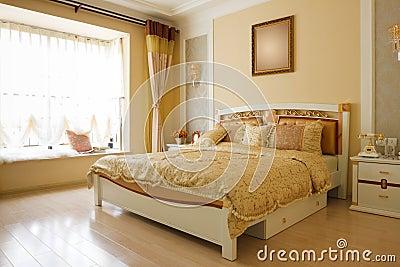 The luxury expensive bedroom interior