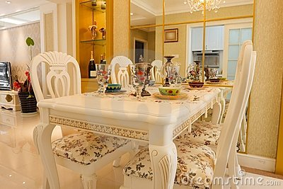 Luxury expensive dining room interior
