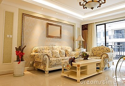 Luxury expensive living room interior