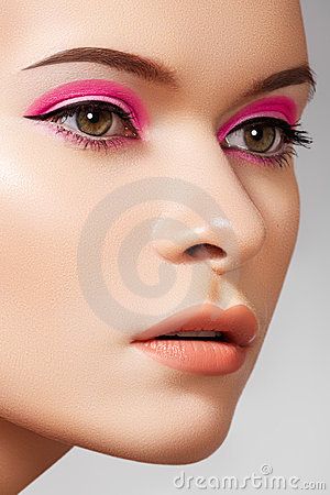 Luxury fashion cosmetics and bright beauty make-up