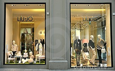 Luxury fashion shop in Italy Editorial Stock Image