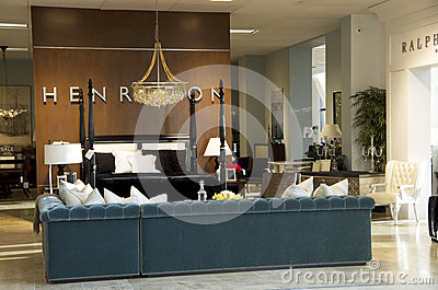 Luxury furniture store Editorial Stock Photo