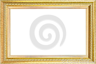 Luxury gold frame isolated.