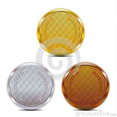 Luxury gold silver bronze badge
