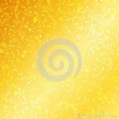 Luxury golden background with bokeh defocused