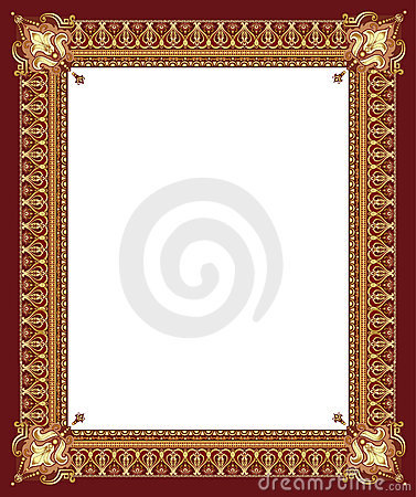 Luxury golden decorative frame
