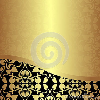 Luxury golden ornamental Background.